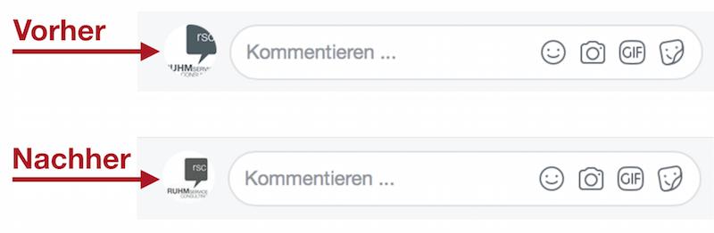 Profilbild für Facebook Unternehmensseiten wird kreisförmig