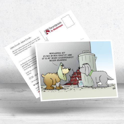 Uli Stein Postkarte für Tierärzte - Motiv Trichter