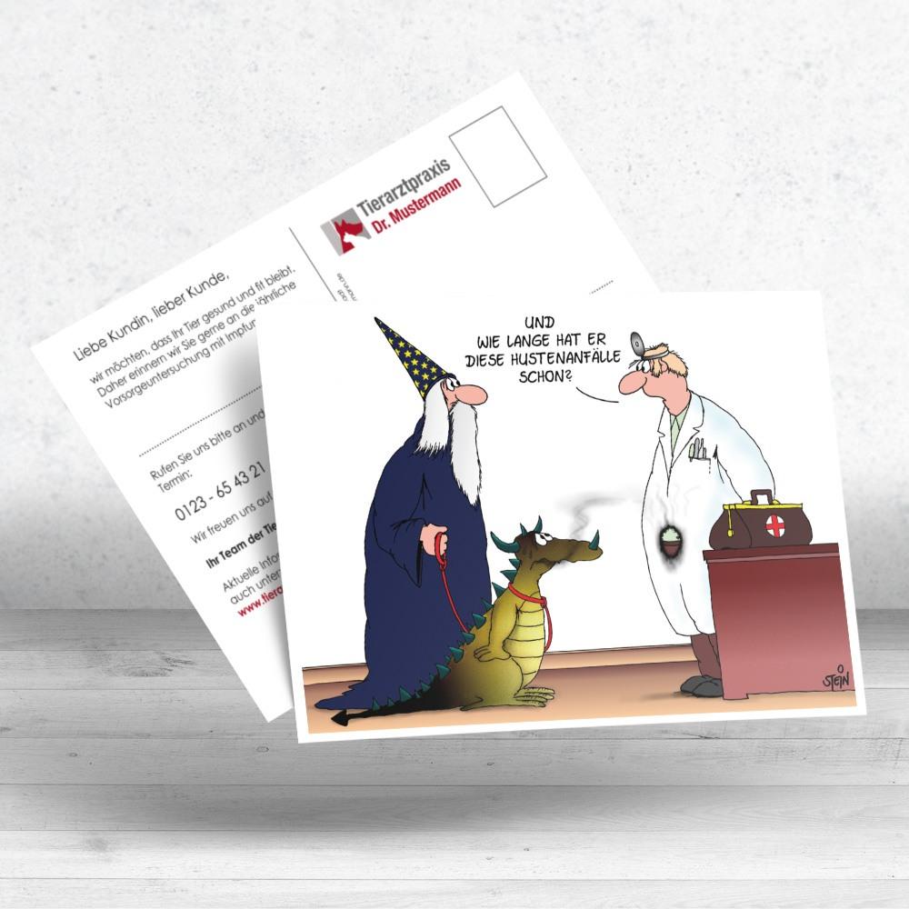 Uli Stein Postkarten für Tierärzte - Ruhmservice