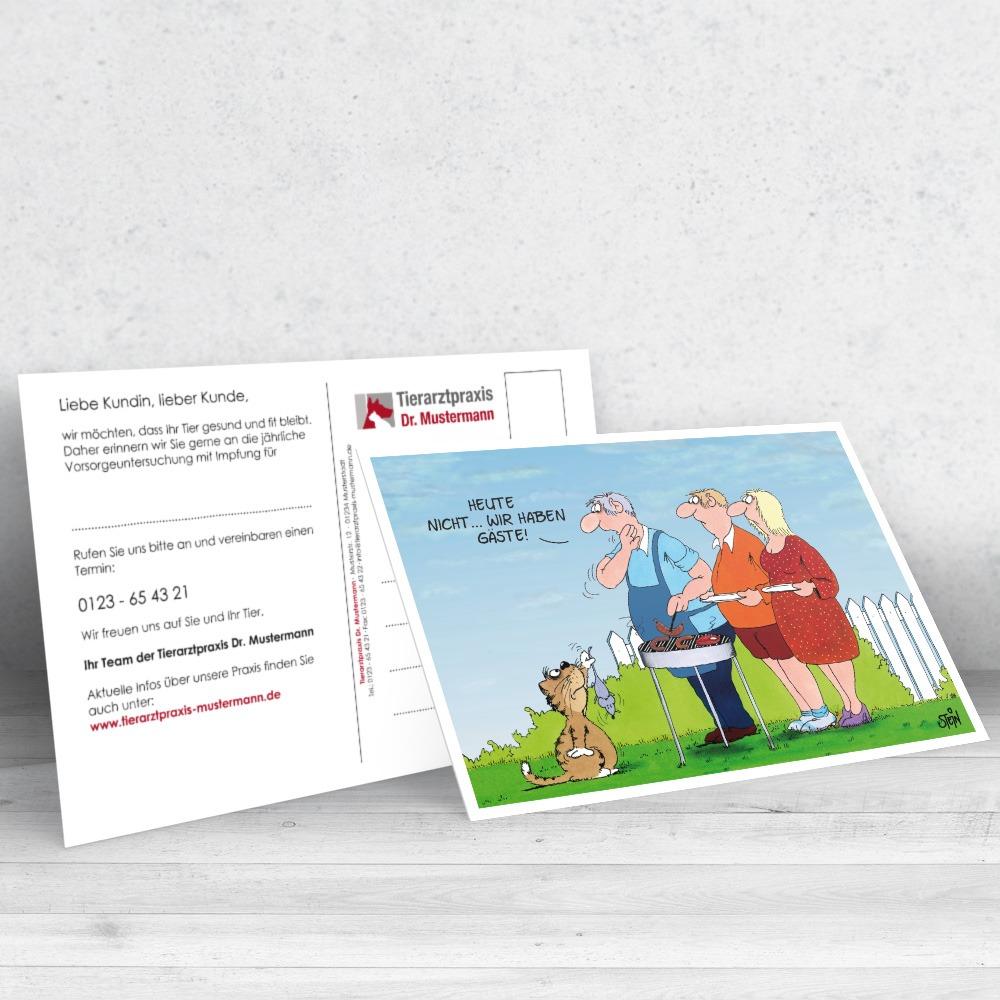 Uli Stein Postkarte für Tierärzte - www.ruhmservice.de