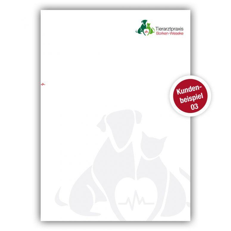Briefpapier für Tierärzte - Beispiel 3 - Ruhmservice Consulting