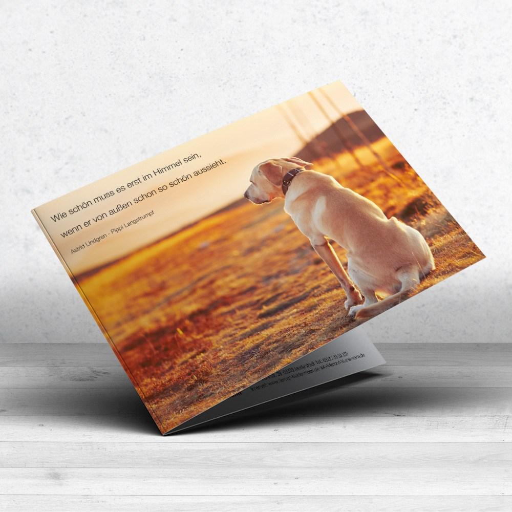 Trauerkarte Hund