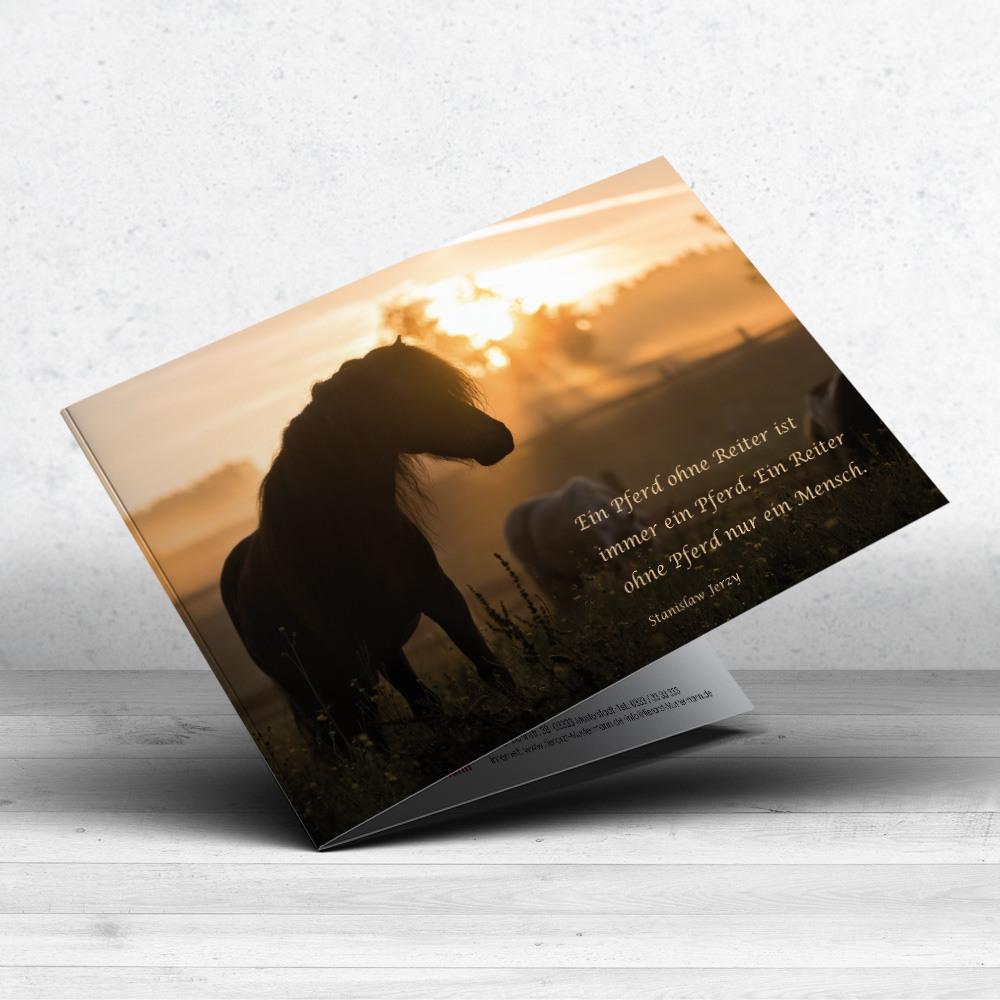 Trauerkarte Pferd für Tierärzte - Motiv 13 im ruhmservile Shop