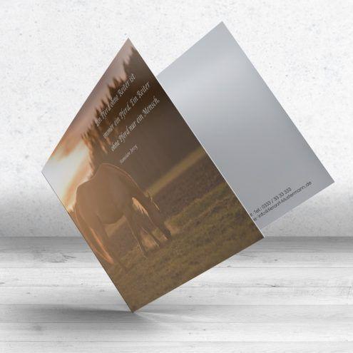 Trauerkarte Pferd - Motiv 15 im Ruhmservice Shop