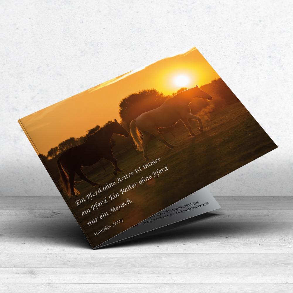 Trauerkarte Pferd 17 im Ruhmservice Shop