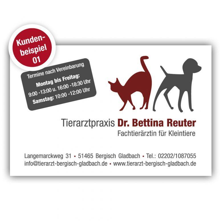 Visitenkarte Tierarzt - Beispiel 1 - Ruhmservice