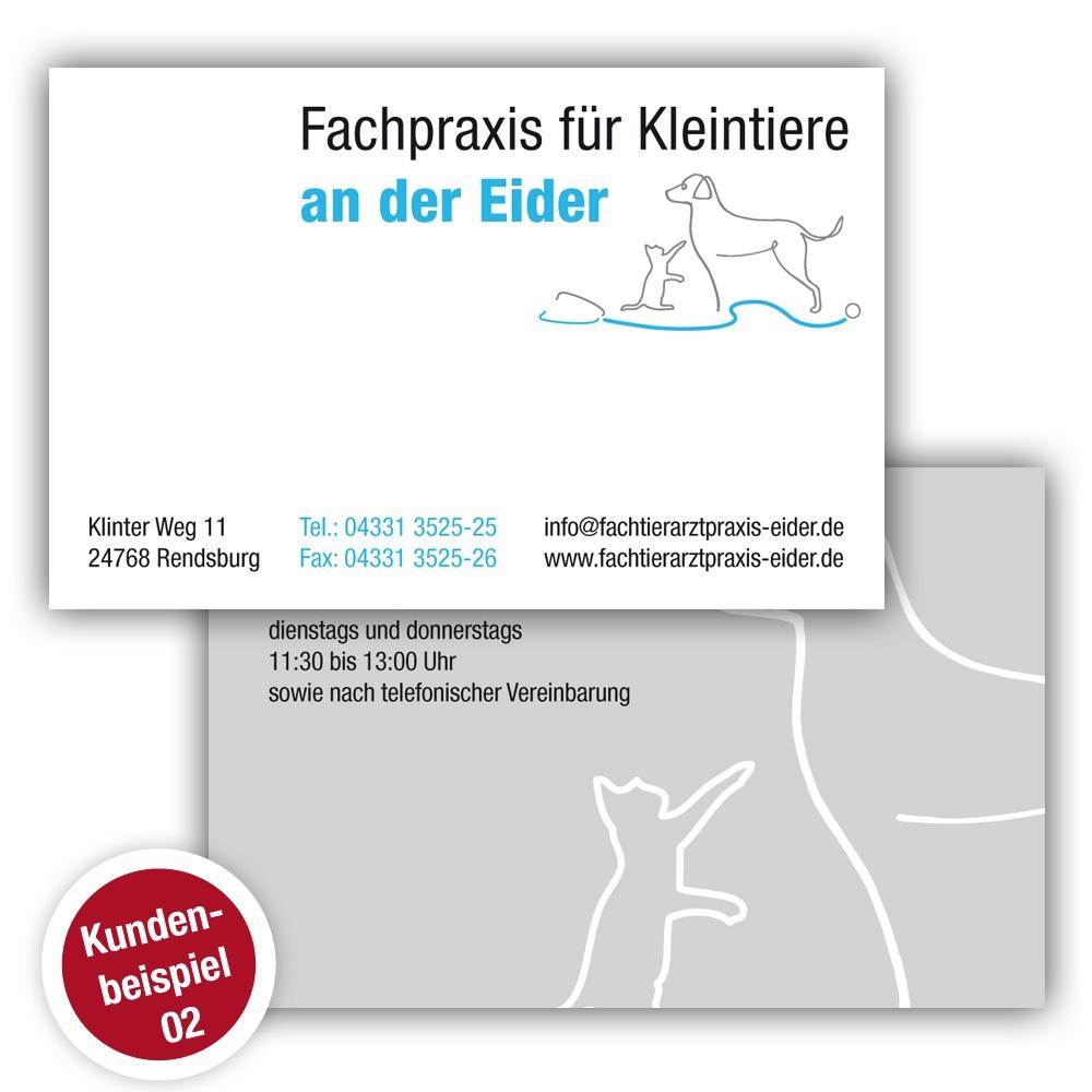 Visitenkarte Tierarzt - Beispiel 2 - Ruhmservice