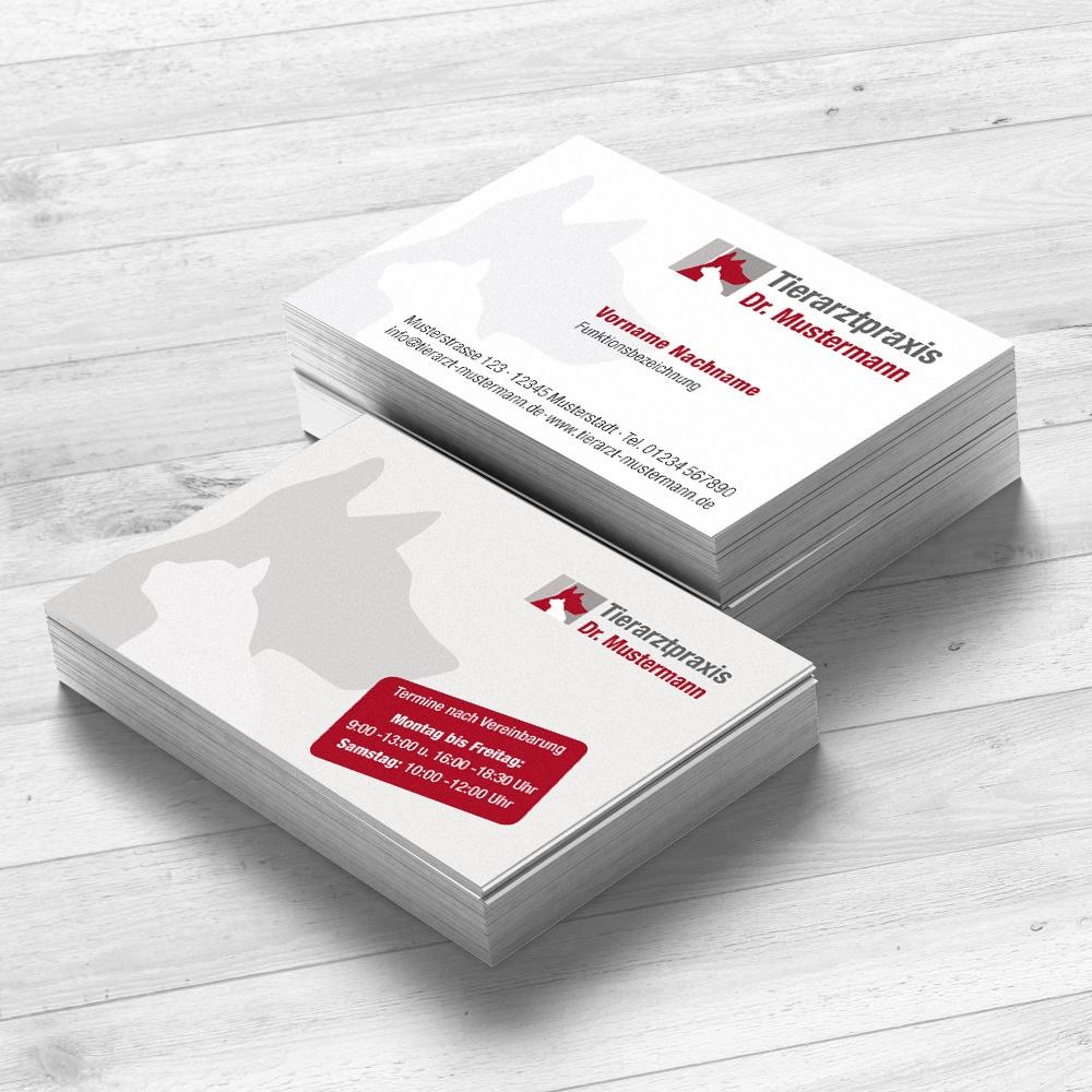 Visitenkarten Tierarztpraxis - Design by Ruhmservice