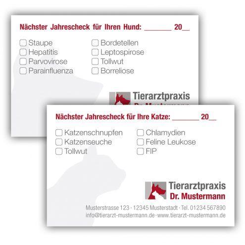 Impfpasskarten für Tierärzte - Ruhmservice Shop