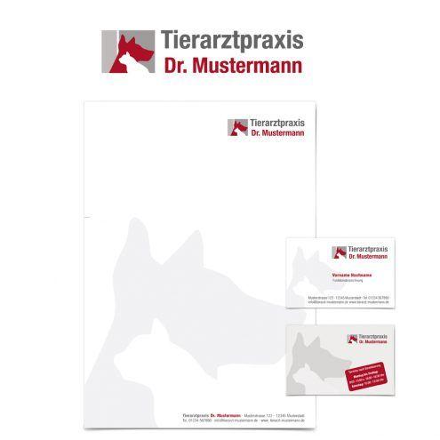 Logo Visitenkarte Briefpapier Tierarzt