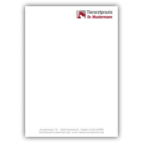 Notizblock Tierarztpraxis A6 Ruhmservice