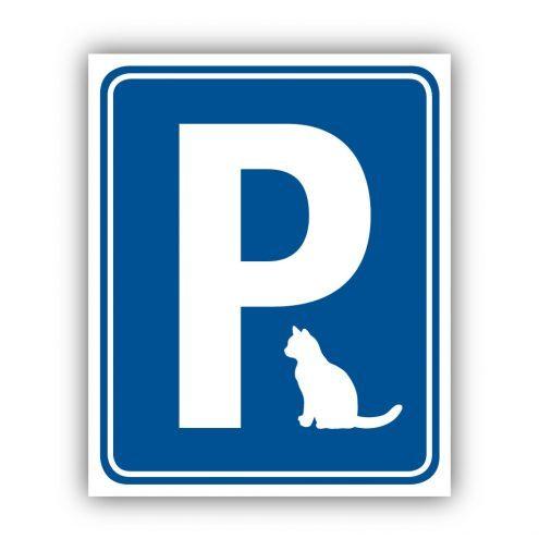 Aufkleber Katzenparkplatz Blau Ruhmservice.de