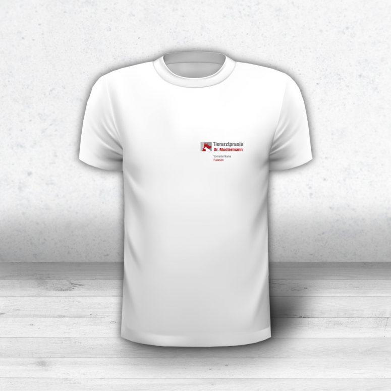 T-Shirt Tierarztpraxis Logo und Name