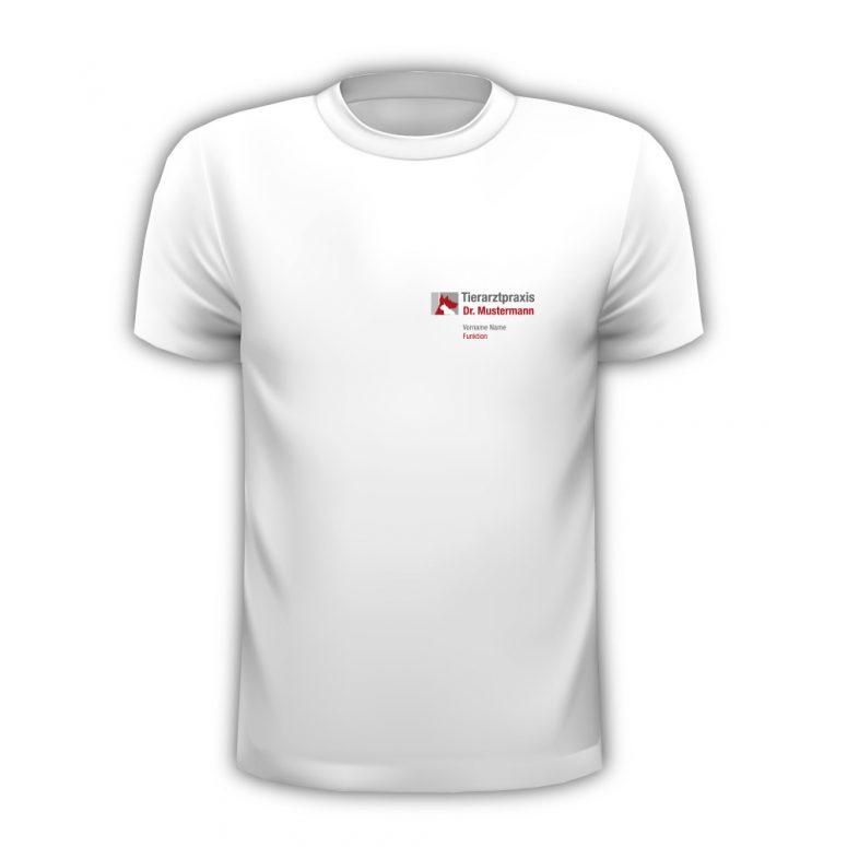 T-Shirt Tierarzt mit Logo, Name und Funktion