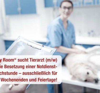 Stellenangebot:  Tierarzt (m/w) für die gezielte Besetzung einer Notdienst-Sprechstunde gesucht!