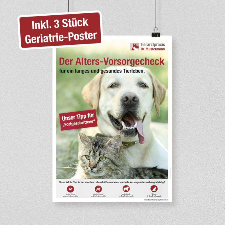 Geriatrie Poster Tierarztpraxis