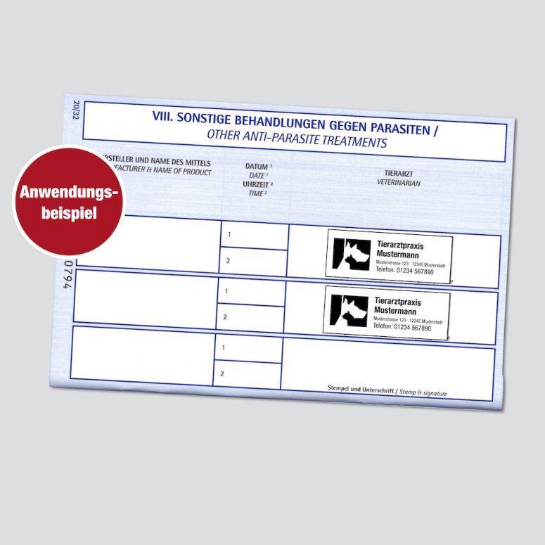 Stempel EU-Impfpass Tierarzt