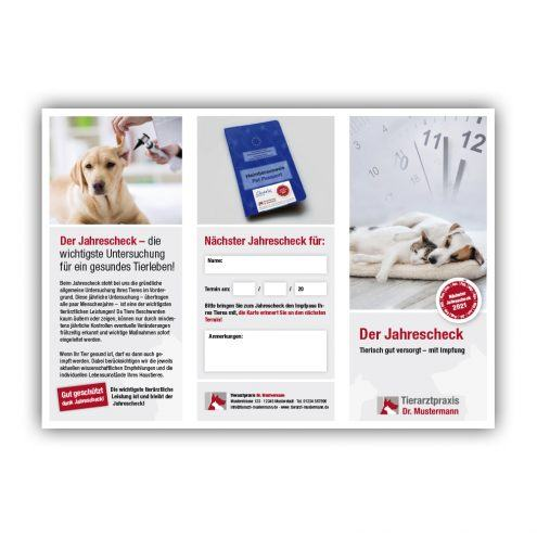 Folder Impfung Tierarzt