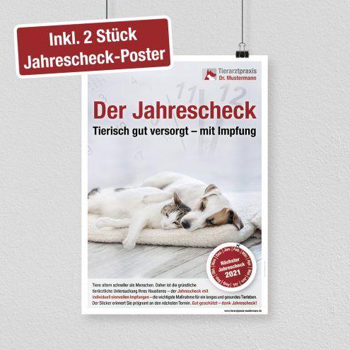 Jahrescheck Impfung Poster tierarzt