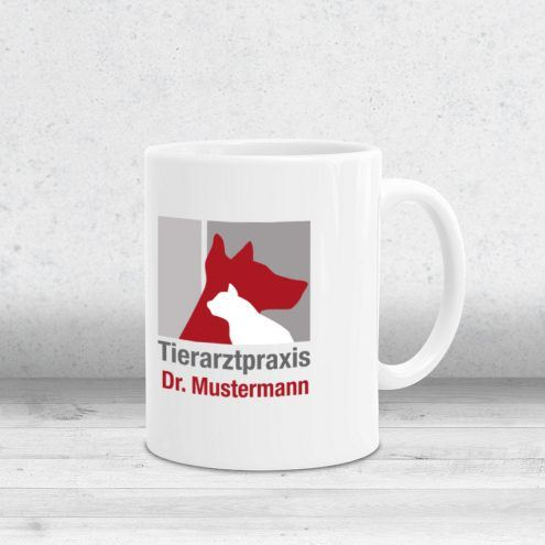 Kaffeetasse Tierarztpraxis mit Logo