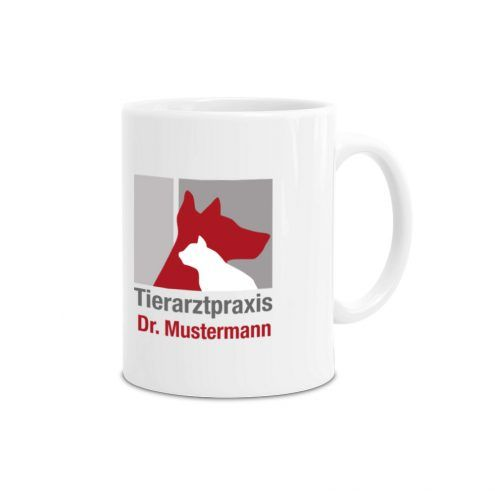 Tasse Tierarztpraxis mit Logo