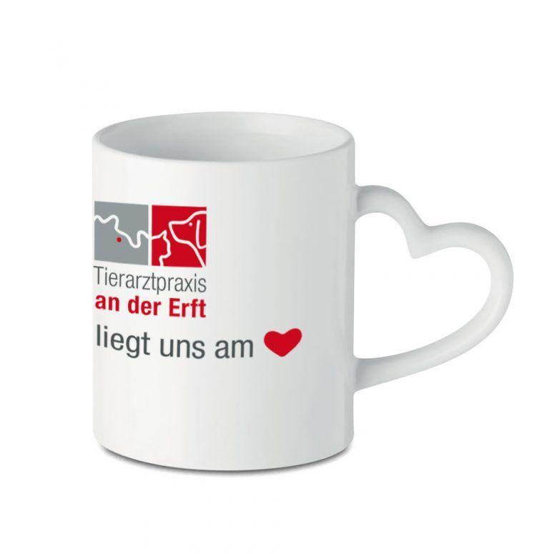 Becher Kaffee Tierarztpraxis Logo