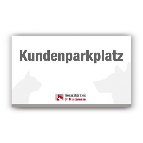 Schild Parkplatz tierarztpraxis