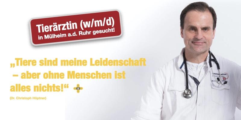 Stellenangebot: Tierärztin (w/m/d) für moderne Kleintierpraxis in Mülheim a.d. Ruhr gesucht!